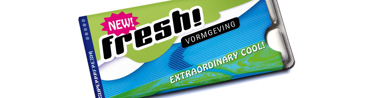 Slider foto chewing gum kauwgum, website FRESH vormgeving, oss