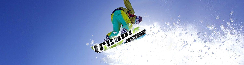 Slider foto snowboarder, website FRESH vormgeving, oss
