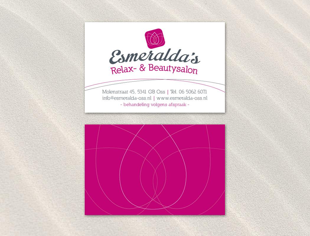Visitekaartje Esmeralda's Relax- & Beautysalon