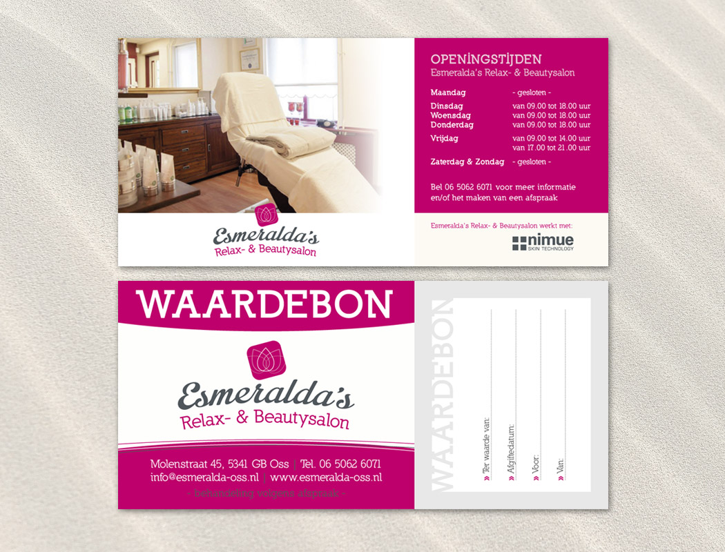 Waardebon Esmeralda's Relax- & Beautysalon