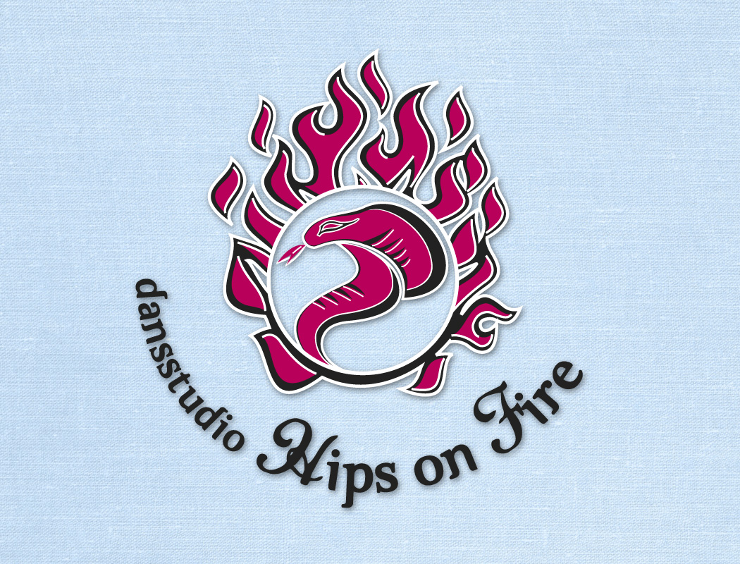 Logo Dansstudio Hips on Fire Oss