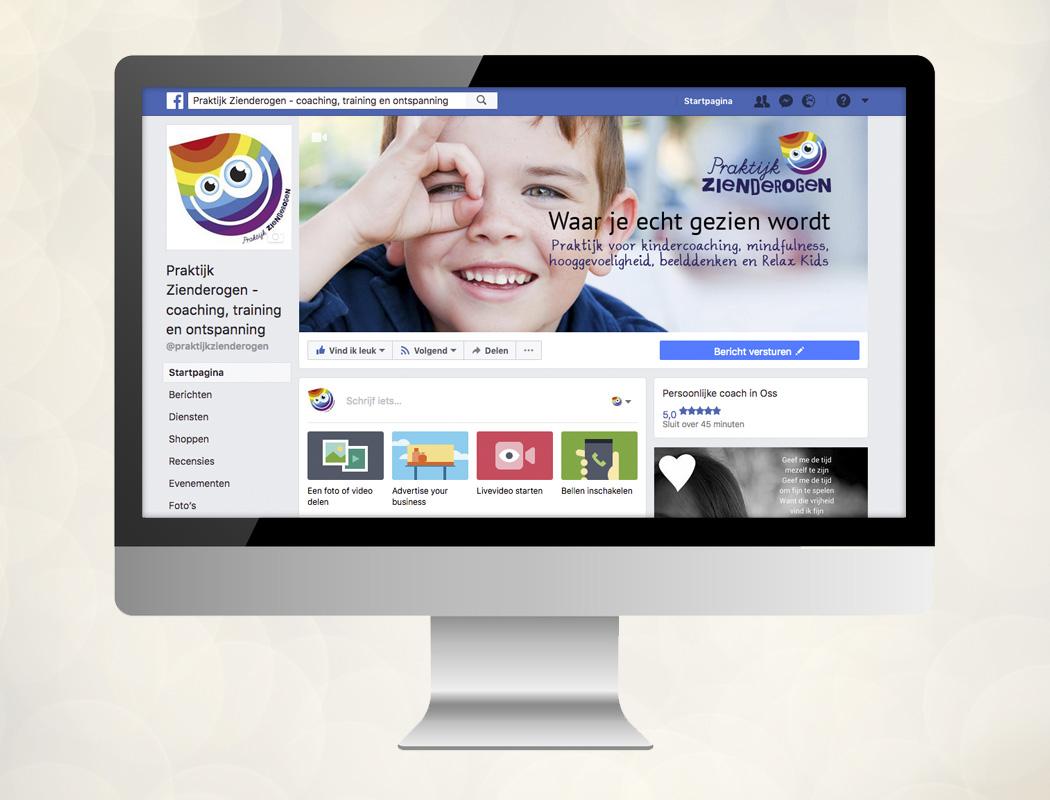 Zakelijke facebookpagina Praktijk Zienderogen Oss